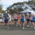 Start of the 21 km Run