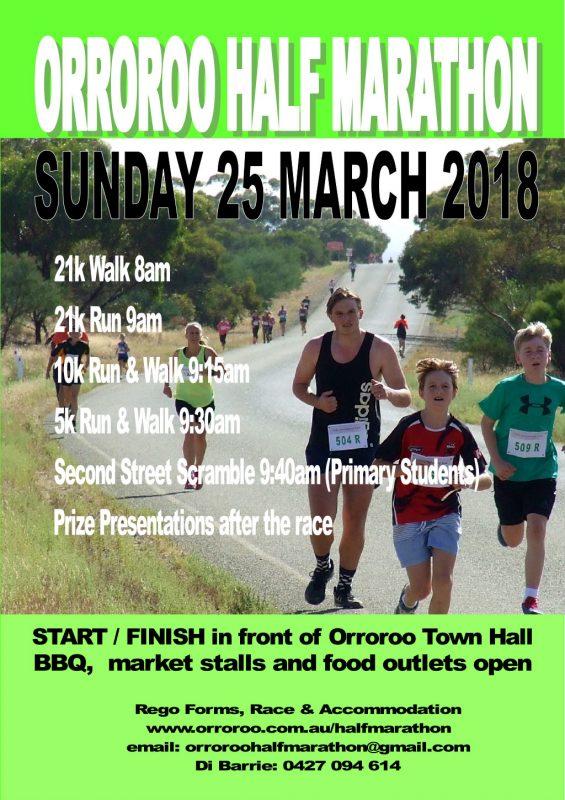 2018 Orroroo Half Marathon Poster