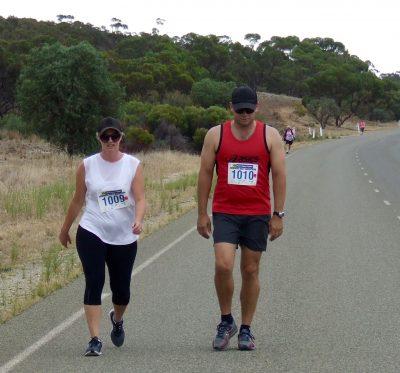 17 10K Walk winners Fiona and Matt Dignan