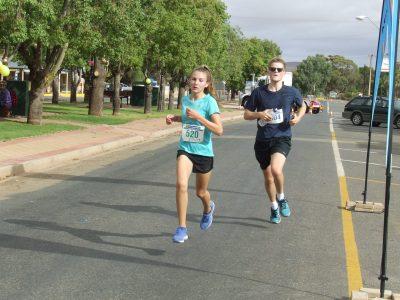 34 Jasmine Schubert 5K run and Kurtis Madigan 10K run finishing