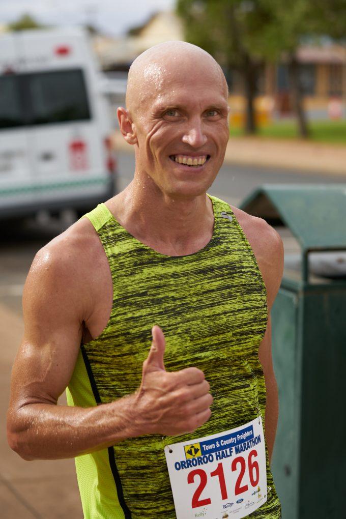 John Csongi - 21km winner